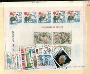 Monaco Scott 1516-61,1531a Mint NH (1986 Commemorative Year Set) CV $127