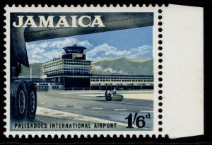 JAMAICA QEII SG227, 1s 6d black, light blue & buff, NH MINT.