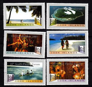 J28406 1997 cook island mnh set #1214a-f views
