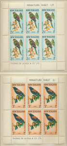 New Zealand Stamps Scott #B63a To B64a, Mint Never Hinged, Miniature Sheets -...