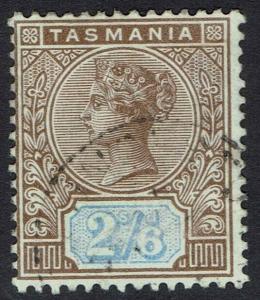 TASMANIA 1892 QV TABLET 2/6 USED