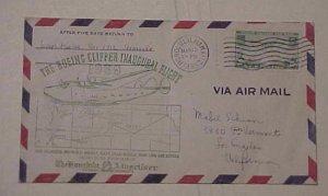 HAWAII  FLIGHT 1939 MARCH 13 HONOLULU TO  LOS ANGELES