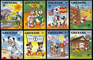 Grenada 1582-1589, MNH, Disney at Seoul Summer Olympics