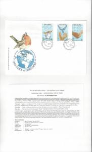 Isle of Man 318-20 Peace at Christmas 1986  Official FDC