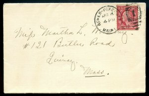 U.S. T III 2 Cent Washington Perf. 10 Hor. Coil on Dover-Foxcroft, Maine Cover
