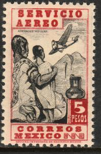 MEXICO C140, $5P 1934 Definitive. Admiring Flight. MINT, NH. VF.