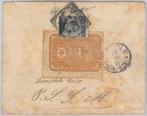 TRIPOLI DI BARBERIA  - Storia Postale: Sass # 5 su BUSTA con TURKISH REVENUE