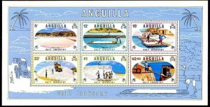 ANGUILLA - 1980 - SALT INDUSTRY - BOATS - FIELD - LOADING ++ MINT MNH S/SHEET!