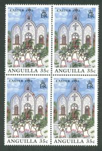 ANGUILLA SC# 844 F-VF MNH 1992 Block of 4