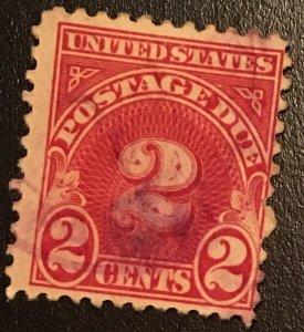 J81 Postage Due 2c, 11 x 10 1/2 perf., single, Vic's Stamp Stash