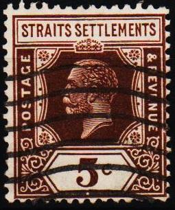 Straits Settlements. 1919 5c S.G.226 Fine Used