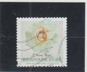 Denmark  Scott#  1798  Used  (2018 Rose)