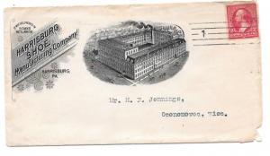 $ US Shoe Cover, Harrisburg, Pa. 1900, Harrisburg Shoe Manufacturing Company