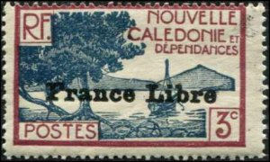 New Caledonia SC# 219 Bay of Paletuviers Point o/p France Liber 3c MNH