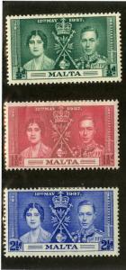MALTA 188-190 MH SCV $1.25 BIN $0.50 ROYALTY