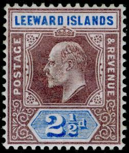 LEEWARD ISLANDS SG23, 2½d dull purple & ultramarine, M MINT.