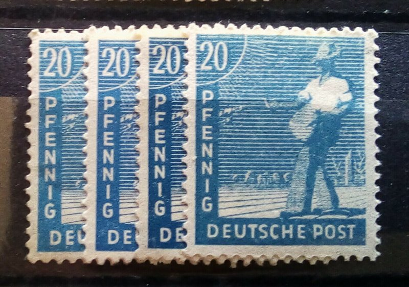 Germany Allied Occupation Mi 950 abcd mnh