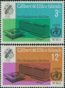 Gilbert & Ellice Islands 1966 SG127-128 WHO set MNH