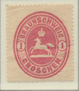 Brunswick (German State) Stamp Scott #24, Mint Hinged, Toning - Free U.S. Shi...