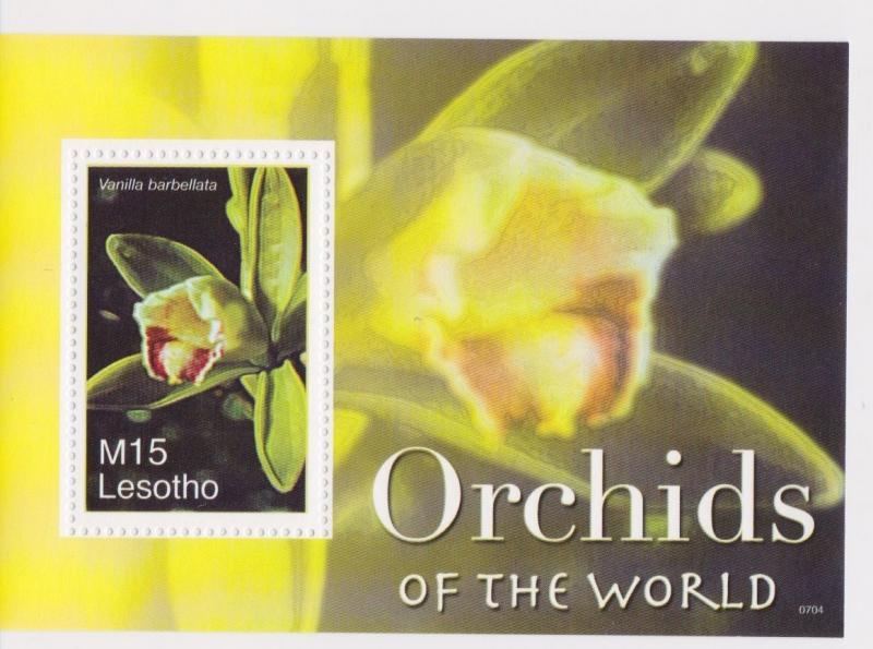 Lesotho - Orchids of the World, 2007 - Sc 1419 S/S MNH