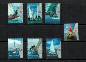 New Zealand: 1999, Yachting, MNH set + Miniature Sheet & Self adhesive