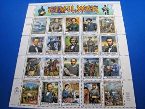 UNITED STATES SCOTT #2975 - FULL PANE CIVIL WAR   MNH  (brig)