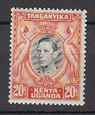 J25745 1938-54 kenya uganda - tanzania mlh #74 king