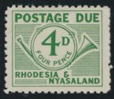 Rhodesia & Nyasaland SG D3 Sc# J3  MNH see details Postage Due