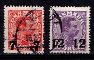 Denmark 1926-27 Christian X Definitive Optd. Surch. [Used]
