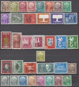 COLLECTION LOT OF #1135  SAAR 36 UNUSED NO GUM/USED STAMPS 1955+ CV+$27