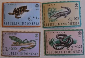 Indonesia B203-5 MNH Reptile Topical Cat $1.80