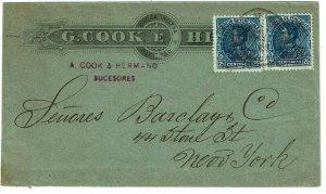 Venezuela 1900 Maracaibo cancel on cover to the U.S., franked Scott 152