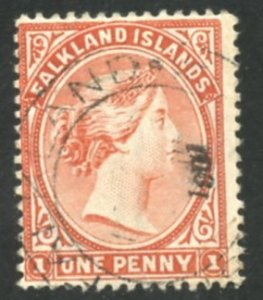 Falkland Islands Scott 11 - UF-VFH - SCV $85.00