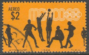 MEXICO C337, $2P Volleyball 4th Pre-Olympic Set Used VF. (778)