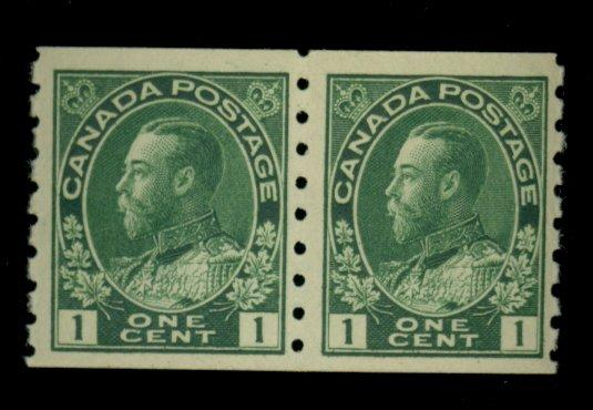 Canada #125 MINT Pair VF OG LH CAt$225