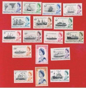 Tristan da Cunha #71-84 #113-115  MNH OG  Ships
