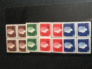 Canada #O46-O49 MInt NH 1963 Cameo Set in Blocks of 4 Ovpt. G USC Cat. $16.40