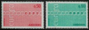 Andorra, French #205-6 MNH Set - Europa
