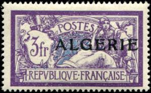 Algeria SC# 30 Liberty & Peace Issue of France o/p 3fr  MH