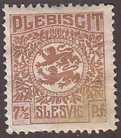 Germany Schleswig 3 Hinged 1920 Arms, Rare Indeed!