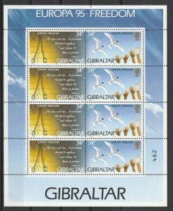 Gibraltar MH S/S Europa Freedom 1995