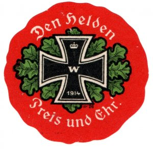 (I.B-CK) Germany (Great War) Cinderella : Propaganda Seal (The Price of Honour)