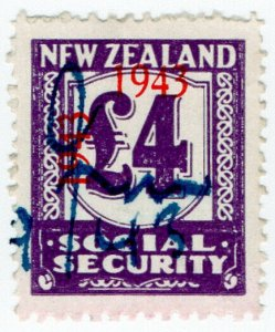 (I.B) New Zealand Revenue : Social Security £4 (1943)