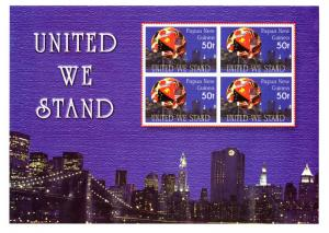 Papua New Guinea MNH S/S 1048 United We Stand 9/11 2002