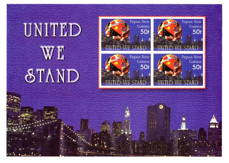Papua New Guinea MNH S/S 1048 United We Stand 2002