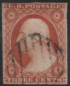 US Scott # 11a 3c Washington Used / Nice Margins