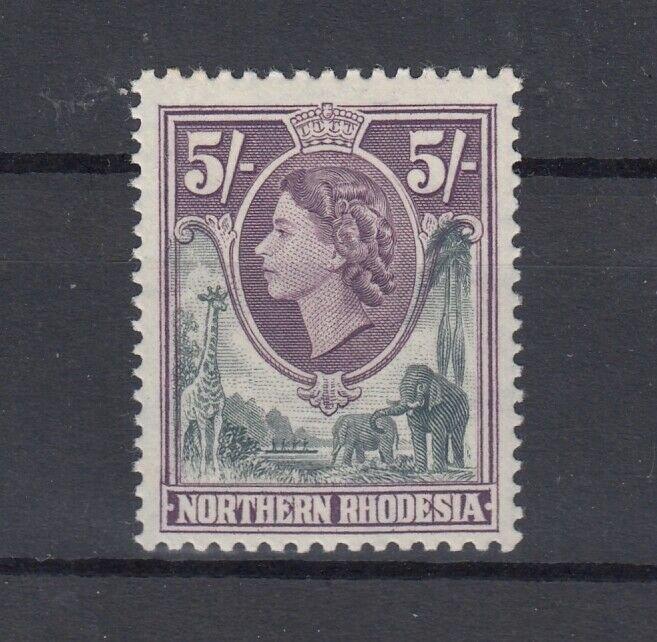Northern Rhodesia QEII 1953 5/- SG72 MNH J9643