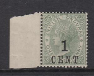 British Honduras-Scott 47 -QV Overprint-1892 -MNH - 1c on a 1c Stamp