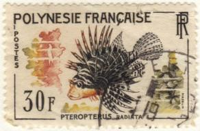 French Polynesia #201 used MD fish