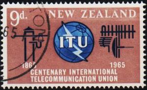New Zealand. 1965 9d S.G.828 Fine Used
